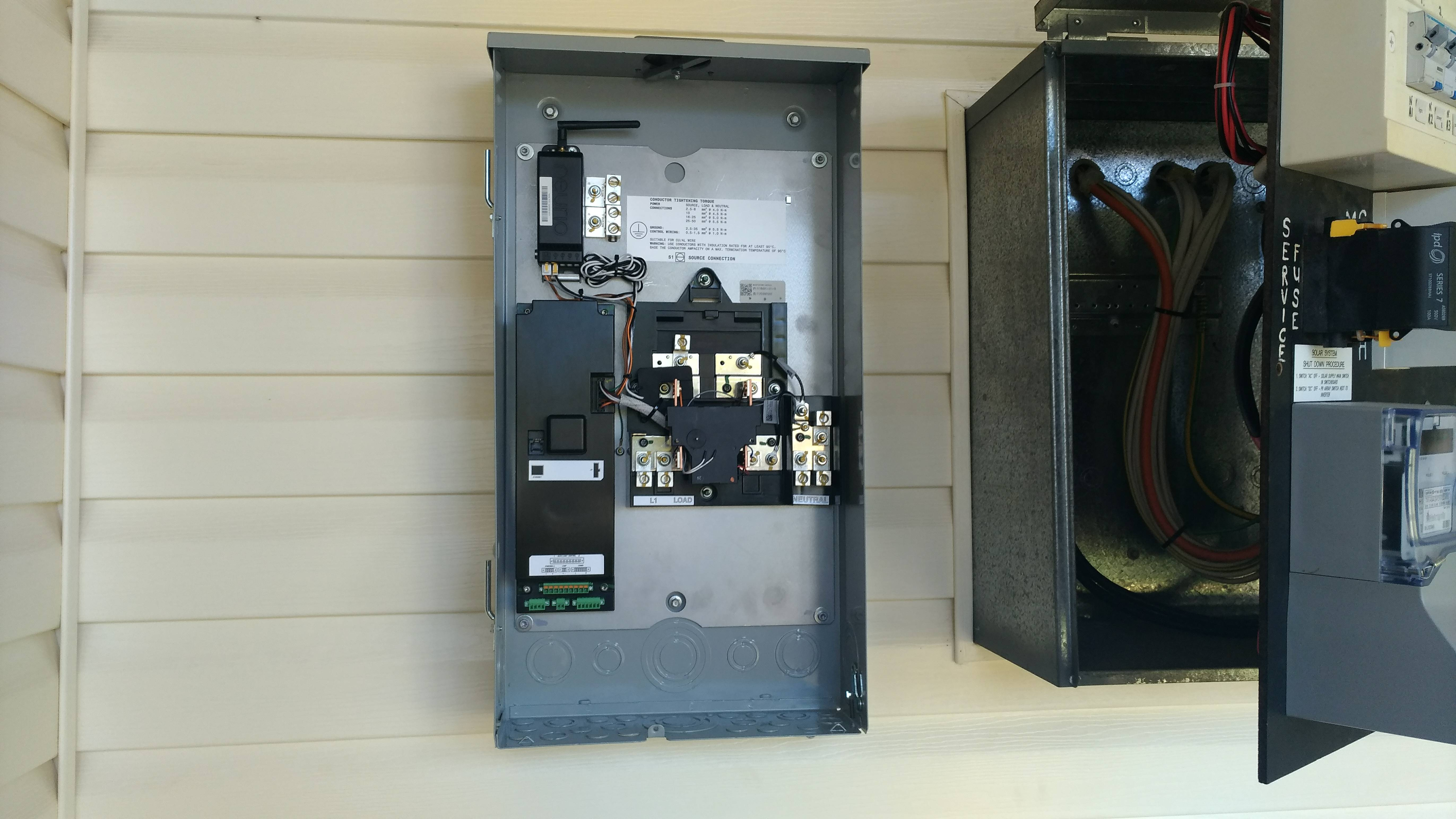 Australian Tesla Powerwall 2 Review Mikesgear Wiring Diagrams 130 All Cabling Done There Is A Clamp On The Solar Active Input To Measure Its Generation And Gateway Measures House Load From Power Cable