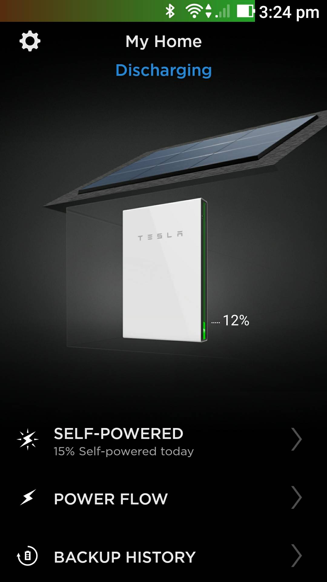 Australian Tesla Powerwall 2 Review Mikesgear If You Run Out Of Room On The Starter Relay Quotbquot Post Install A Power This Is Home Page Get After Signing In It Takes About 5 Seconds To Fetch Current State When Open App And Gives Quick Glance See